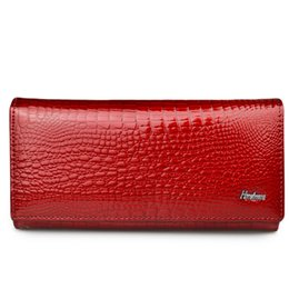 $enCountryForm.capitalKeyWord UK - Women Wallets Genuine Leather Wallet Female Hasp Alligator Purse Long Coin Purses Card Holders Ladies Wallets Womens Cluth Bags