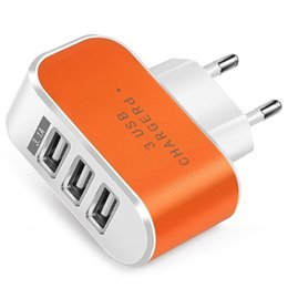 $enCountryForm.capitalKeyWord NZ - Candy Color 5V 3.1A 3 Port Power Adapter Home Travel USB Charger for Mobile Phone Tablet with Led Light