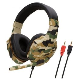 switch computers NZ - New 3.5mm Camouflage Gaming Headset Professional Gamer Stereo Head-mounted Headphone Computer Earphones for PS4 PS3 Xbox Switch