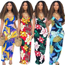 3b8fc7c2ec4 Women Deep V Neck Sling Dress Flora Printed Spaghetti Bodycon Dresses  Bohemian Slim Dresses Backless Maxi Dresses Beach Long Skirt C51407