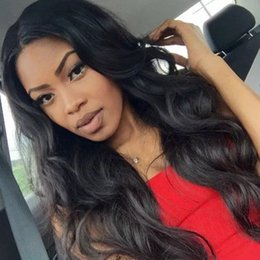 medium length human hair lace wig Australia - Brazilian Body Wave Long 13x6 Lace Front Human Hair Wigs 360 Lace Frontal Wig Pre Plucked With baby hair