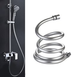 hose bath Australia - PVC Shower Hose High Pressure Thickening Anti-winding Smooth Shower Hose for Bath Handheld Shower Head Bathroom Accessories