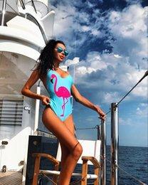 $enCountryForm.capitalKeyWord Australia - Flamingo Printing Bikini Nylon Sexy Backless Swimsuit One Piece Woman Bathing Suits Swimwear Wading Exercise With Chest Pad A0729