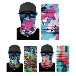 $enCountryForm.capitalKeyWord Australia - Breathable Outdoor Face Mask Scarf Ski Mask Headband Scarf Geometric Print Sports Riding Face Casual Accessories