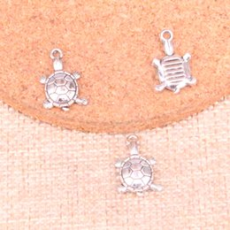 $enCountryForm.capitalKeyWord Australia - 182pcs Antique Sliver tortoise turtle sea Charm Pendant DIY Necklace Bracelet Bangle Findings 18*11mm