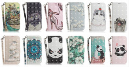 Leopard Flip Wallet Australia - 3D Flower Leather Wallet Case For Iphone XS MAX X XS XR 8 7 Plus 6 SE 5 Tiger Animal Cat Dog Panda Tiger Leopard Card ID Flip Cover Fashion