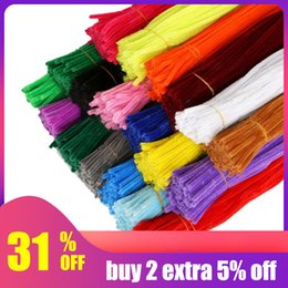 $enCountryForm.capitalKeyWord NZ - IY Apparel Sewing Fabric DIY Craft Supplies Hoomall 100PCs Handmade Colored Wool Root Top Twisting Bar Handmade Fluffy Iron Wire Imaginat...