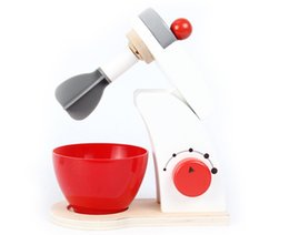 kids wooden toy kitchen UK - Kids Wooden Pretend Play Sets Simulation Toasters Bread Maker coffee machine Blender Baking Kit Game wood mixer Kitchen role toy Y200428