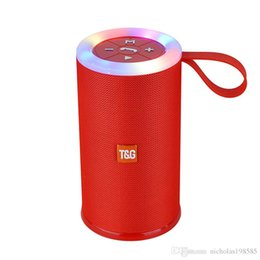 Wholesale Card Ring Australia - TG Series Colorful Led Ring Wireless Bluetooth Speaker Portable Outdoor Bass Loudspeaker Column Support TF card USB FM Stereo HiFi Boxes