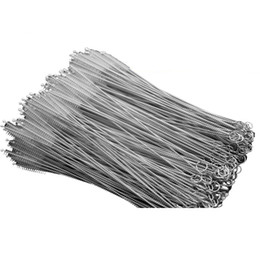 China Stainless Steel Straw Cleaning Brush Nylon Straw Cleaners Cleaning Brush For Drinking Pipe Stainless Steel Glass Free DHL cheap stock pan suppliers