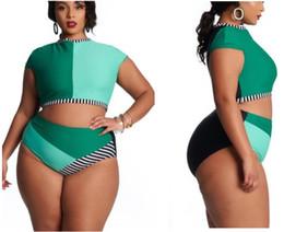 Swimwear red online shopping - plus Big sport Bikini Sets High waisted print fat bikini one shoulder multi rope swimwear large multi panel Sexy flexible stylish