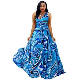 45708d0592d33 Boho deep v neck long women dress Chiffon cross lace up summer dress  Sleeveless beach maxi dress vestidos NB-923