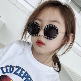 Kids Summer Sunglasses UK - Child 2018 NEW designer Kids Round Frame Sunglasses Children Glasses UV400 Baby Summer Eyeglasses Vintage Cute Girl Eyewear