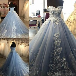 Cheap Red Lace Sweetheart Dress Australia - Custom Made Blue Ball Gowns Prom Party Dresses 2019 Sweetheart Sweep Train Lace Up Plus Size Elegant Formal Evening Occasion Wears Cheap