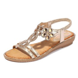 $enCountryForm.capitalKeyWord NZ - Women's Flat Sandal Sweet Bohemia Sandals Fashion Rhinestone Comfort Soft Walking Casual Female Sandals