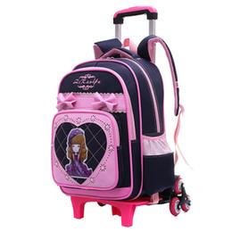 $enCountryForm.capitalKeyWord Australia - Removable Children School Bags With 2 6 Wheels For Girls Trolley Backpack Kids Wheeled Bag Kid Travel Luggage Mochilas Back Pack