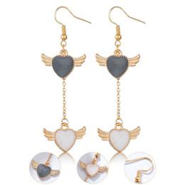 $enCountryForm.capitalKeyWord Australia - Newest Trendy Angle Wings Drop Earrings for Women Female Birthday Gift Long Tassel Wings Pendant Dangle Earrings