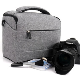 Dslr Cameras Bags Australia - DSLR 2018 new Fashion Polyester Shoulder Bag Camera Case For Canon Nikon Sony Lens Pouch Bag Waterproof Photography Photo Bag free ship hot