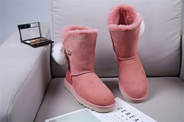 $enCountryForm.capitalKeyWord Australia - Hot Sale New Women's Australia Classic tall Boots Women girl boots Boot Snow Winter boots fuchsia black blue red leather shoes 01