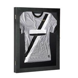 Wholesale designer footballs for sale – custom 35 quot Jersey Display Case Lockable Shadow Box Frame Football Baseball Basketball