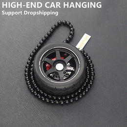Chains For Mirrors Australia - Auto Decoration Pendant For Car Wheel Keychain Key Ring Car Mirror Hanging Ornament Key Chain Keyring Pendant For Hanging
