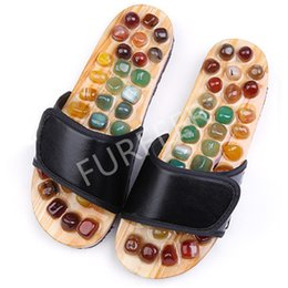 home massage slippers NZ - Men's Summer Flat Sandals Indoor Foot Agate Massage Slippers Men Slides Casual Anti-skid Health Home Shoes Male House Flip Flops