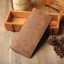 Long Designer Wallet Australia - Brand Vintage Leather High Quality Men Long Wallet Coin Purse Fashion Designer Male More Card Holder Wallets Black Khaki
