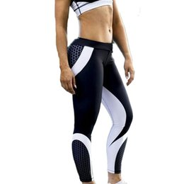 Digital printing yoga pants online shopping - Women Geometric Digital Printing Yoga Pants High Waist Fitness Pants Quick drying Body building Underwear