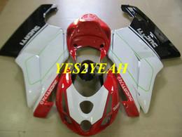 $enCountryForm.capitalKeyWord Australia - Injection mold Fairing body kit for DUCATI 749 999 03 04 ducati 749 999 2003 2004 Red white black Fairings bodywork+Gifts DD37