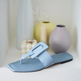 $enCountryForm.capitalKeyWord NZ - 2019 summer new full leather lazy versatile flat shoes flip flops fashion beach sandals wear Muller slippers slippers for women free shippin