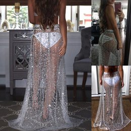 Wholesale Sequin Clothes Australia - Attractive Beach Cover Up Bikini Sequins Swimwear Coverup Sarong Wrap Pareo Skirt Swimsuit Sex free stuff Clothes for Women