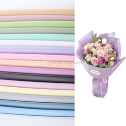 $enCountryForm.capitalKeyWord Australia - 60*60cm 20pcs lot Flower Packaging Paper Matte surface Packaging Material Paper waterproof Bouquet Florist Supplies Gift Wrapping Paper