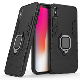 Chinese  Finger Ring Car Holder Phone Case Magnetic Bracket Mobile Cover Soft TPU+PC Shockproof Kickstand Case For iPhone Xs Max XR X Samsung S9 manufacturers