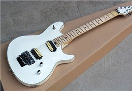 Floyd Rose White Australia - Free shipping White Electric Guitar with 2H Pickups,Maple Fretboard,Floyd Rose,Chrome Hardware,Binding Body,offering customized services