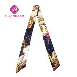 Опт Сумка дизайнерская большая сумка Шарф с принтом Дикая магия Шелковый шарф Связанная сумка Ручка Маленький шарф на ленте Платок для сумок