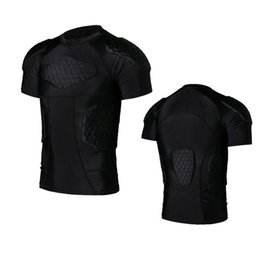 Wholesale Hot Men Quick Dry Anti collision Training T shirt Short Basketball Jersey College Football Jerseys Body Protection