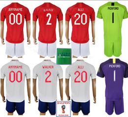 38730d3ff Men Soccer 2 Kyle Walker Jersey Set 2018 World Cup 10 Raheem Sterling 20  Dele Alli Football Shirt Kits Uniform Custom Name Number