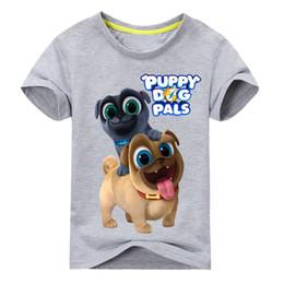Children White Tees Australia - Summer Cartoon Puppy Dog Pals Print Tee Tops For Boy Girls Clothing Children White 3D Funny T-shirt Kids T Shirt Clothes DX043