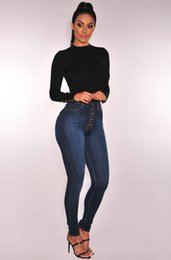 women velvet clothes Australia - 2020 Hot Sale Woman High Waist Slim Jeans Skinny Lifting Hip Mom Jeans Large Size Full Length Pants S-4XL Casual Clothes