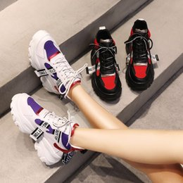 thick rubber soled shoes 2019 - Women Sneakers 2019 Spring Women Casual Shoes Multi Color Thick Sole Ladies Platform Shoes Height Increasing Chunky Shoe