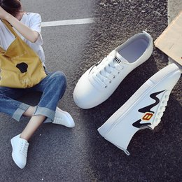 $enCountryForm.capitalKeyWord Australia - Comfortable Fresh Small White Low Help Student Shoe Level With Fashion2019 Flat Shoes Woman