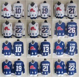 peter forsberg jersey 2019 - Quebec 10 Guy Lafleur Nordiques Jerseys Ice 13 Mats Sundin 21 Peter Forsberg 26 Peter Stastny 19 Joe Sakic 17 Wendel Cla