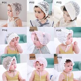 $enCountryForm.capitalKeyWord Australia - New Cute Toddlers Infant Baby Girls Flower Princess Sun Hat Cap Summer Lace Hat Bonnet Ruffled Lace Flower Caps 3-18M