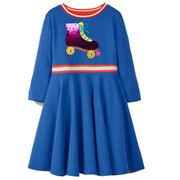 Chinese  Flamingo Embroidered Princess Dress 2019 Designer Kids Clothes for Girls Summer Dress Unicorn Appliqued Baby Clothing Tunic Girl Clothes manufacturers