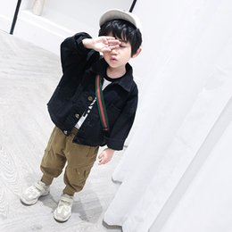 Canvas Pants Australia - Cat1998 boy's casual pants spring autumn hot style Korean children's pants fashion fashion 4-year-old baby cargo pants
