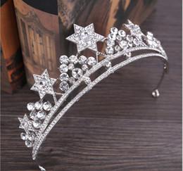 Gold Gift ribbon online shopping - Birthday wedding gift princess crown bridal tiara headband