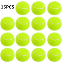 balls pack Australia - Practice Tennis Balls Standard Training Exercise Rubber Balls Indoor Outdoor Sports Balls for Children Women Beginners School Pet 15pcs pack