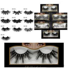 dramatic false eyelashes 2019 - NEW Hot 25mm 3D False Eyelashes Natural Fake 3D Mink Eyelashes Eyelash Extension Makeup Big Dramatic Faux Mink Lashes di
