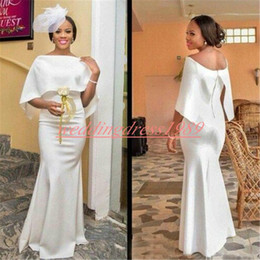 87b15580d639d Maternity short african wear online shopping - Charming Nigerian Mermaid  Evening Dresses K19 White Satin Black