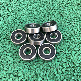 drift skates Australia - 500pcs lot 608RS 608-2RS 608 2RS RS 8x22x7 mm Deep Groove Ball bearing skates drift board Rubber Miniature for 3D printer parts 8*22*7mm